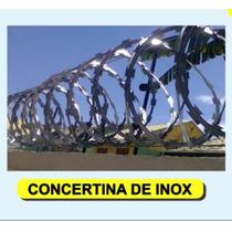 Concertina Ouriço De Inox 45 Cm Dupla Clipada Mais Resistent