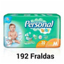 Caixa Fralda Personal Baby Jumbo M Com 192 Fraldas