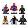 Wolverine Magneto Tempestade Batman Lego X Men Marvel Dc
