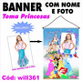 Banner Impresso Para Aniversário Princesas Disney Will361