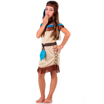 Fantasia De Índia Pocahontas Infantil Sulamericana