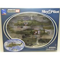 Kit De Montar Helicóptero Sikorsky Uh-60 Black Hawk 1:60 New