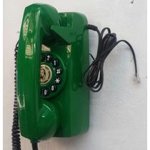 Telefone Antigo Tijolinho De Parede Verde Retrô Vintage