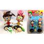 Bonecos Padrinhos Mágicos Timmy Turner E Wanda + Acessórios