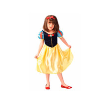 Vestido Fantasia Infantil Princesa Branca De Neve Tam. P M G
