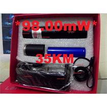 Super Caneta Laser Pointer 98.000mw Verde +kit Completo 35km
