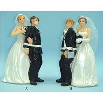 Casal Noivihos De Resina Para Casamento Noivos Na Marra