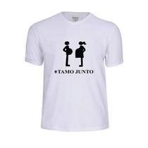 Camiseta Personalizada Gravida Gestante Papai Tamo Junto