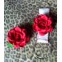 Jogo Para Cozinha Em Eva Com Rosa Vermelha