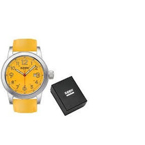 Relógio Zippo Yellow Face Leather Band 45003