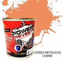 Power Revest,envelopamento Liquido - Cobre Metalico Lata 1/4