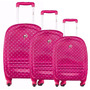 Kit 3 Malas Viagem Barbie Rodas 360 C/ Expansor -mf10060bb