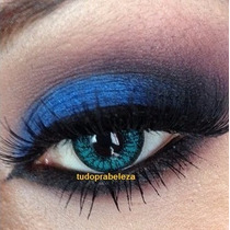 Lente De Contato Colorida Azul Brilhante Blue Validade 2anos