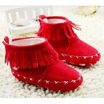 Botinha Bota Sapatinho Calçado Bebe Vermelha 8 A 12 Meses