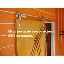 Kit Ferragens Para Porta De Correr 2,00mts Polido Facil Inst