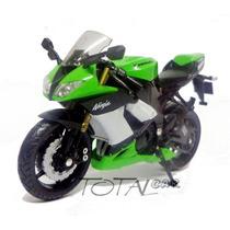 Kawasaki Ninja Zx-10r 2009 Esc.1:18 Welly Moto Promoção