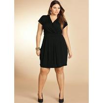 Vestido Extra Grande Plus Size Decote Transpassado Promoção!