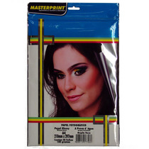 Papel Fotográfico Dupla Face A4 100 Folhas 180gr Masterprint