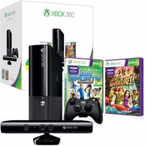 Xbox 360 250gb C/ Kinect + Controle S/fio +2 Jogos Originais