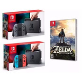Nintendo Switch 32gb Cinza + Legend Of Zelda Breath Of The