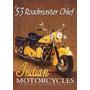 Placa Decorativa Motocicleta Indian Propag Retrô Bar Garagem