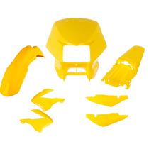 Kit Plástico Carenagem P/ Nxr Bros 150 Ano 2008 - Amarelo