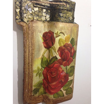 Telha Decorativa De Parede - Floral Frete Incluso