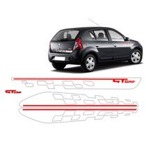 Kit Completo Adesivo Sandero Gt Line Para Carros Escuros