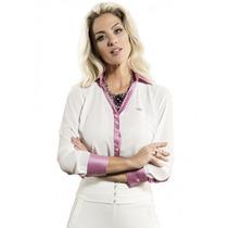 Blusa Branca Para Reunião Detalhes De Cetim