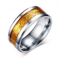 Aliança Grossa Compromisso Casamento Noivado Aço Inox Prata