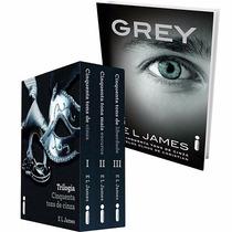 Kit Completo Box Trilogia 50 Cinquenta Tons De Cinza + Grey