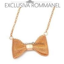 Exclusiva Rommanel Gargantilha Cadeado Pingente Laco 531163