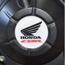 Adesivo Relevo Resin Tampa Motor White Moto Honda Cbr Cb 500
