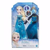 Boneca Disney Frozen - Vestidos Reais - Princesa Elsa