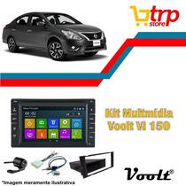 Multimidia Versa 2014 Voolt 150 Dvd Gps Bt Tv 2 Din Android