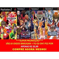 Bakugan + Yu-gi-oh! Para Playstation 2 (kit 4 Jogos Ps2 Rpg
