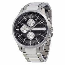 Relógio Armani Exchange Ax2152 Prata Preto Original Até 12x.