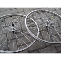 Par Roda Cubo Exage Aro Rigida Caloi Aluminum Andes Sport