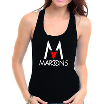 Regata Maroon 5 -banda Pop Rock Camiseta Blusa Fem Viscopura