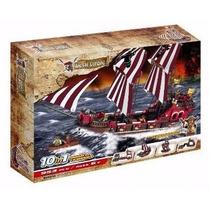 Navio Pirata Blocos De Montar Barco 6 Bonecos 950 Peças Lego