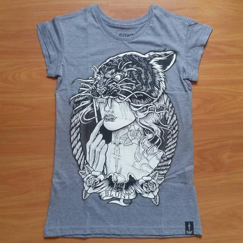 cab4caf4a2 Camiseta Blunt Skate Manga Curta Black Panter Feminino