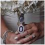 Relicario Duplo Medalha Buquê P/ Sua Noiva Linda Homenagem!!