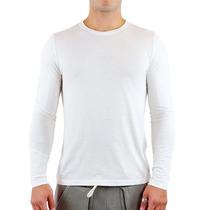 Camiseta De Frio Manga Cumprida Lisa 100% Poliéster Malha Pp