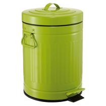 Lixeira Vintage Verde 12 Litros Cozinha Banheiro Ferro