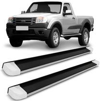 Estribo Ranger 08/12 Aluminio Cab Simples Mod Original Preto