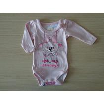 Body Infantil Lilica Ripilica Baby Original Estampado Rosa