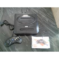 Mega Drive 3 Com 2 Controles, Cabo Av E 1 Jogo.