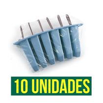 Picoleteira 10 Fôrmas Para Picolé Caseiro Plástic 60 Picolés