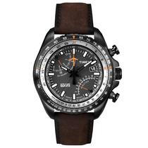 Relógio Masculino Cronógrafo Timex Pulseira De Couro