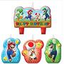 Vela De Aniversário Super Mario Bros / 04 Peças R$59,90